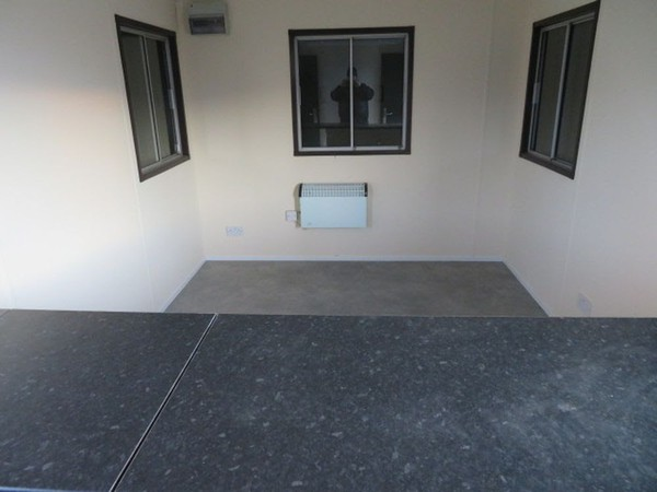 Site office with counter