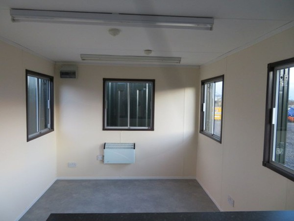 site office with windows