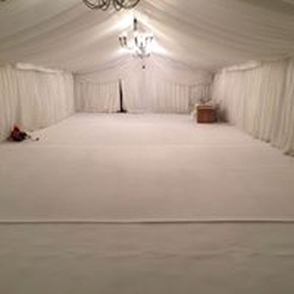 5m x 45m x 3m Plain White Pvc Roof Covers & Gable Triangles Zip Entry