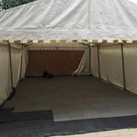 4x 30m x 3m Plain White Pvc Roof Covers & Gable Triangles Zip Entry
