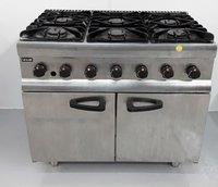 Six burner Gas range cooker