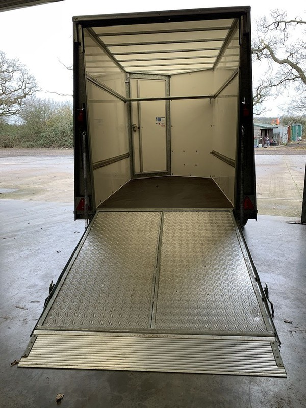 Ifor williams box trailer with ramp