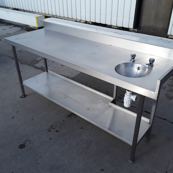 Bench with hand wash sink