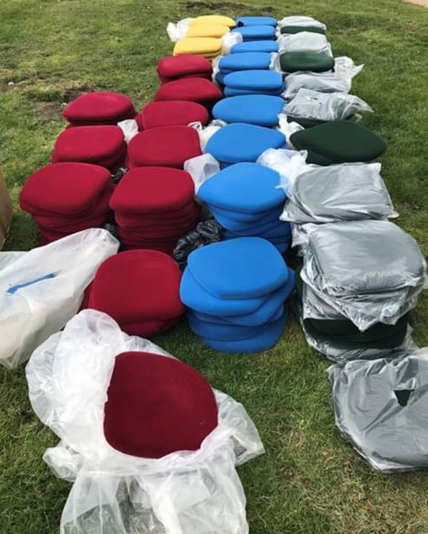 Padded Banquet Chair Pads for sale