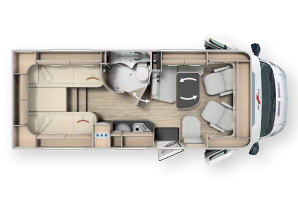 Malibu T430 F35 Touring 2 Berth