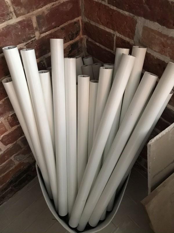 150cm x 75cm white tables