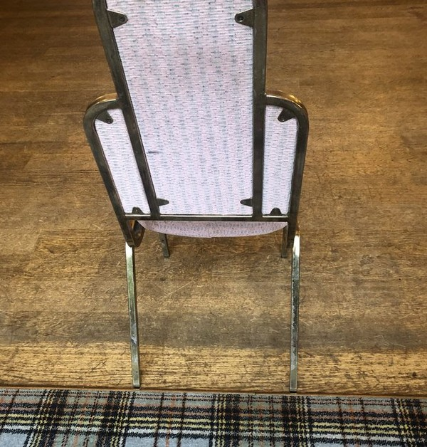 Unique Art Deco Aluminium Banqueting Chairs