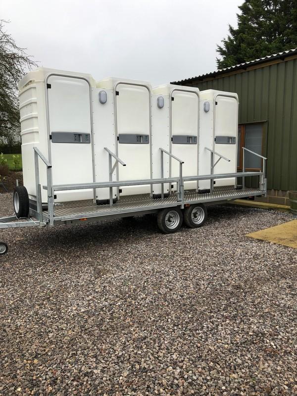 unisex toilet trailers