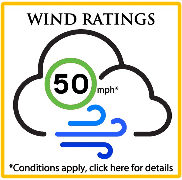 Marquees with 50mph wind rating