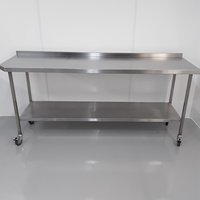 220cm Used Stainless Steel Table