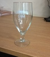 Job lot Branded Stemmed Pint Glasses