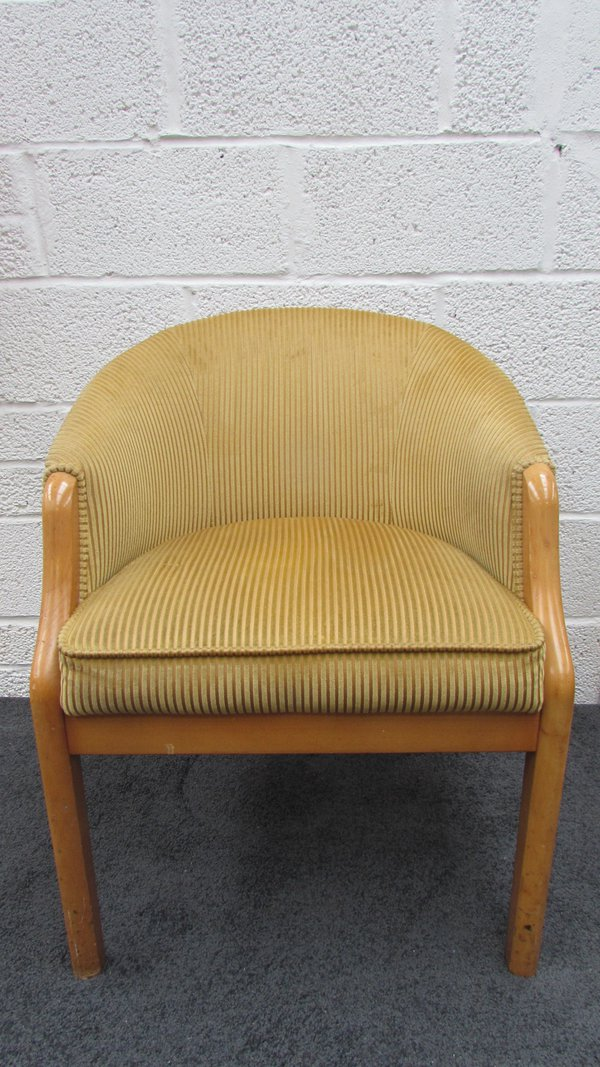 Velour Ash Tub Chairs For Sale