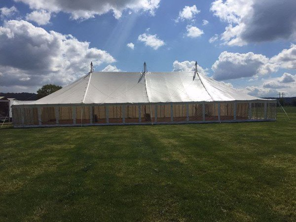 40ft x 80ft traditional pole marquee for sale