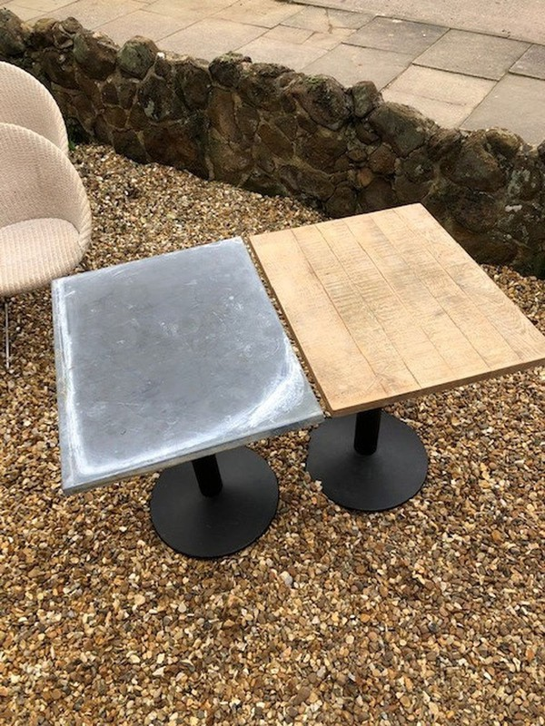 Wooden Rustic Metal Tables