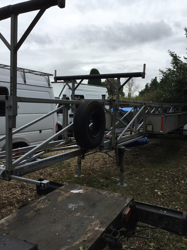 Mast transport trailer