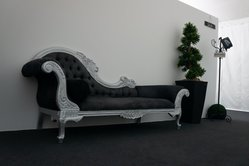 Silver Chaise Lounge for sale