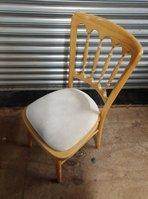 Natural Cheltenham chairs with cream seat pads