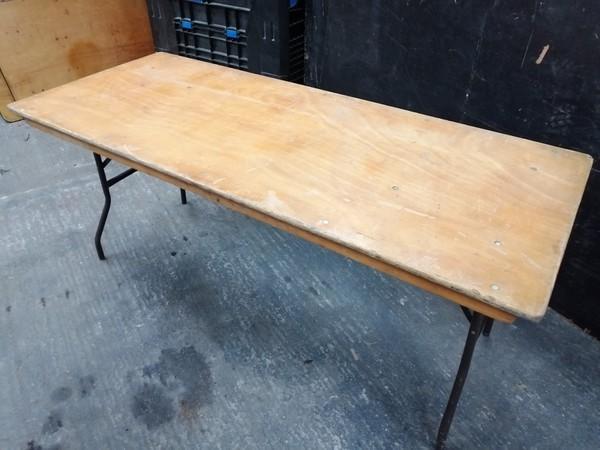 Varnished Top Trestle Tables