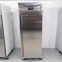 New B Grade Polar U633 Stainless Single Upright Freezer Heavy Duty