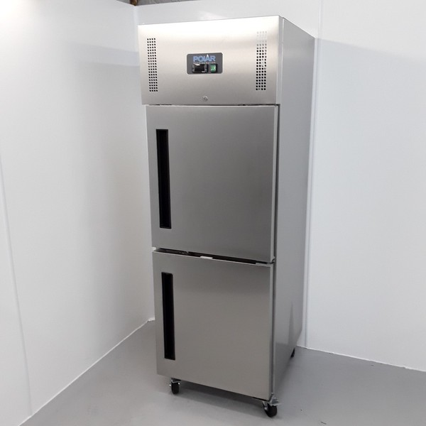 New B Grade Polar CW194 Stainless Single Upright Freezer