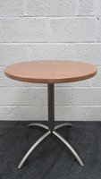 Pale Walnut Round Cafe Tables For Sale