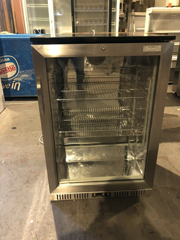 LEC Stainless Steel Undercounter Glass Door Chiller
