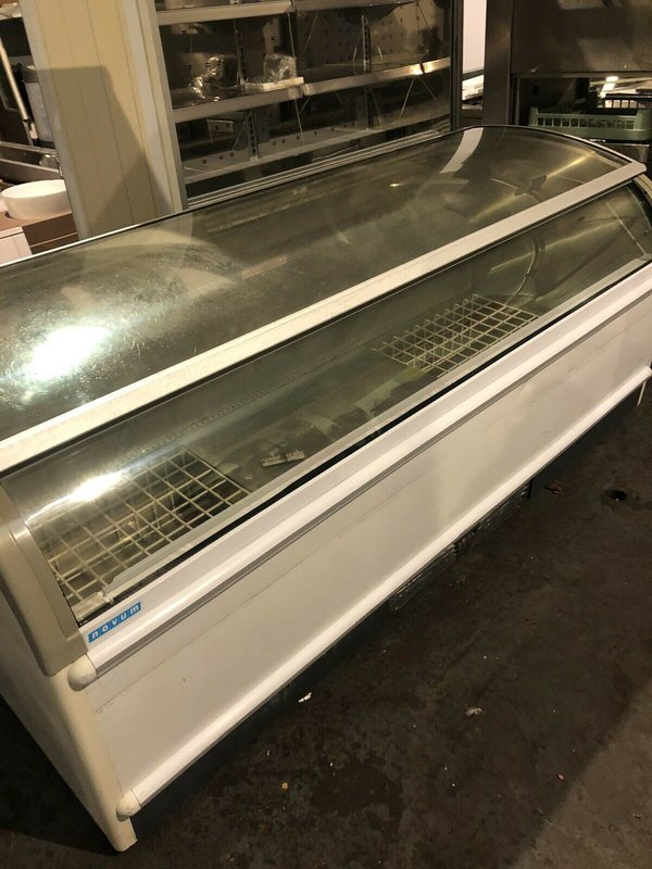 buy Novum 2.2M Glass Lid Island Display Freezer