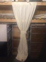 Pleated Ivory Window Drapes - Cheshire