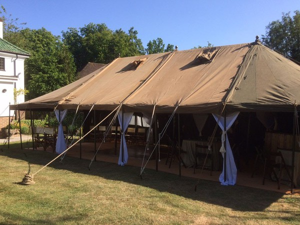 Secondhand British Army tent