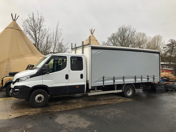 Iveco 70-170 Curtain Side Crew Cab Lorry