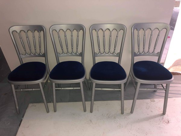 Silver chairs for sale