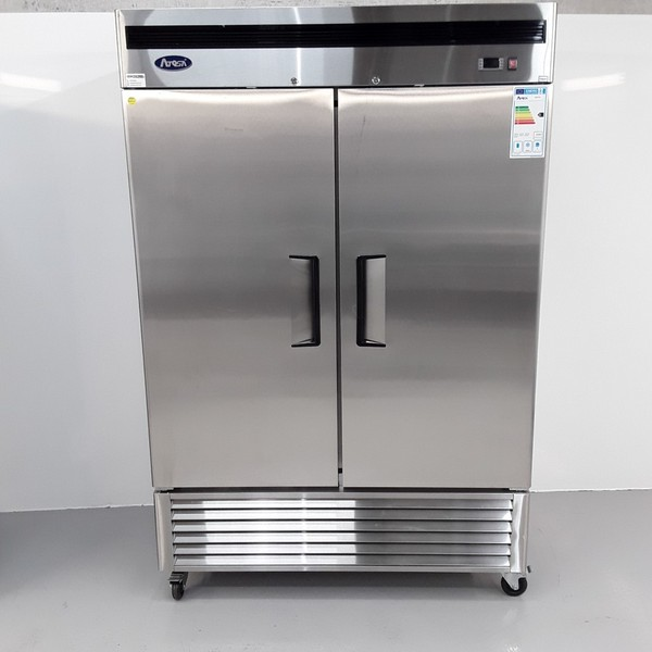 New B Grade Atosa MBF8183 Stainless Double Upright Freezer