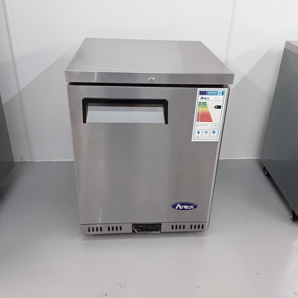 New B Grade Atosa MBC24R Stainless Single Under Counter Fridge