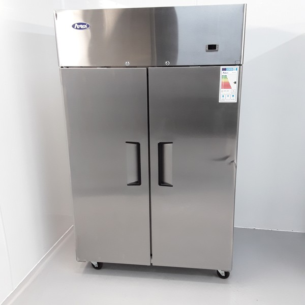 New B Grade Atosa YBF9218GR Stainless Double Upright Fridge