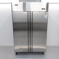 New B Grade Atosa MBF8117GR Stainless Double Upright Fridge