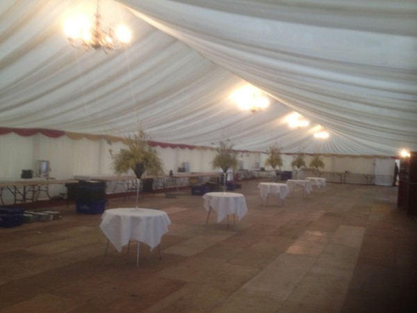 12m wide marquee lining