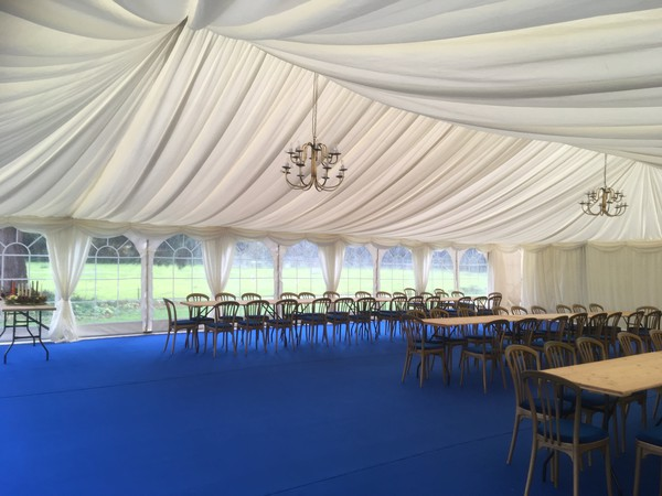12m x 40m marquee livory lining