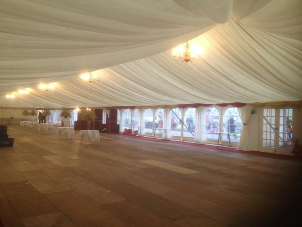 40ft wide frame marquee lining