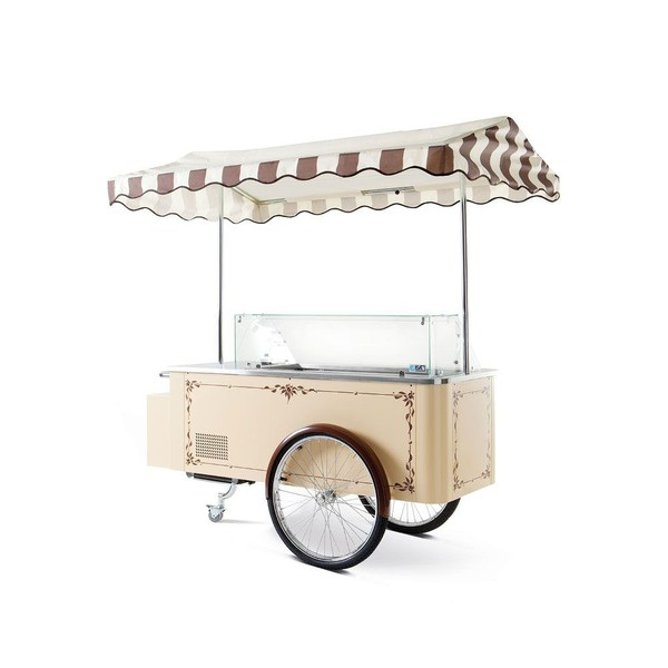 Gelato Ice Cream Display Cart