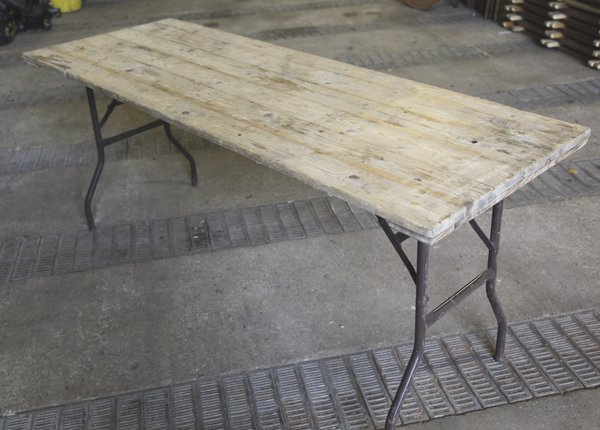 6Ft wooden trestle tables for sale