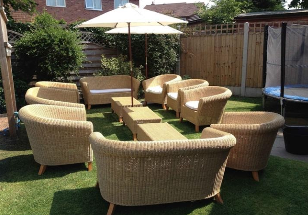 Rustic Natural Rattan Weave Sets - Cheshire - Nationwide Delivery Available
