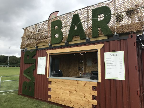 Shipping Container Bar with ROOF TERRACE -