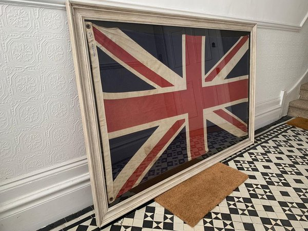 Large antique union jack picture