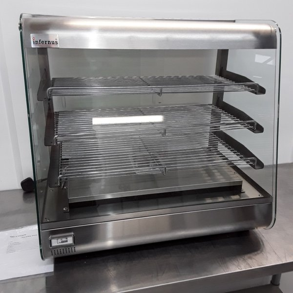 Counter top heated display cabinet