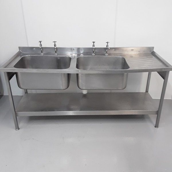 Used Stainless Double Sink