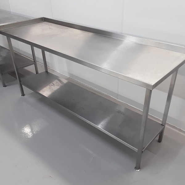 200cm Used Stainless Steel Table