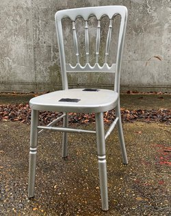 Silver Cheltenham chairs for sale