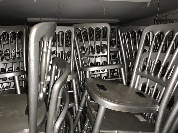 Silver banqueting chairs for sale