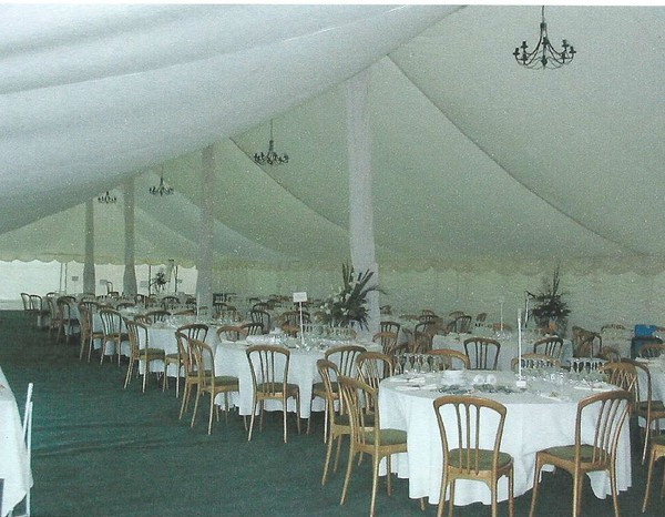 Traditional marquee with flat lining