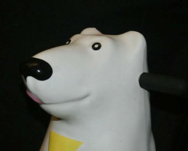 Polar bear with tie skate aid